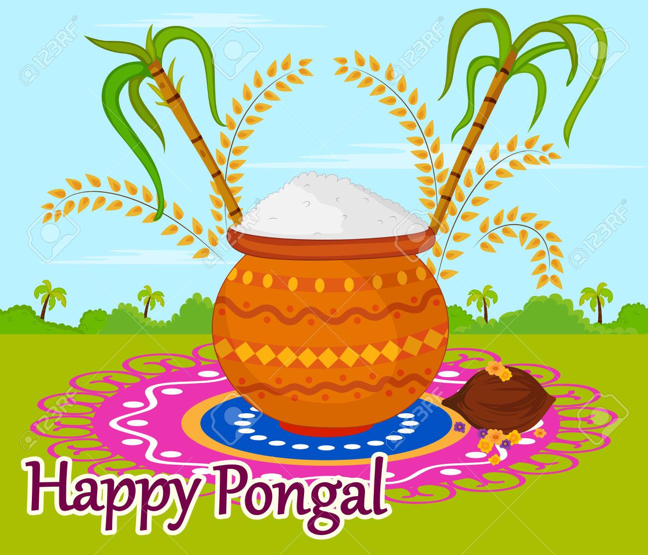 Happy Pongal celebration » Clipart Station.