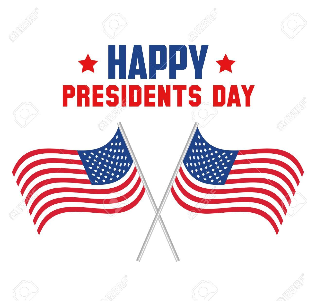 happy presidents day poster vector illustration design.