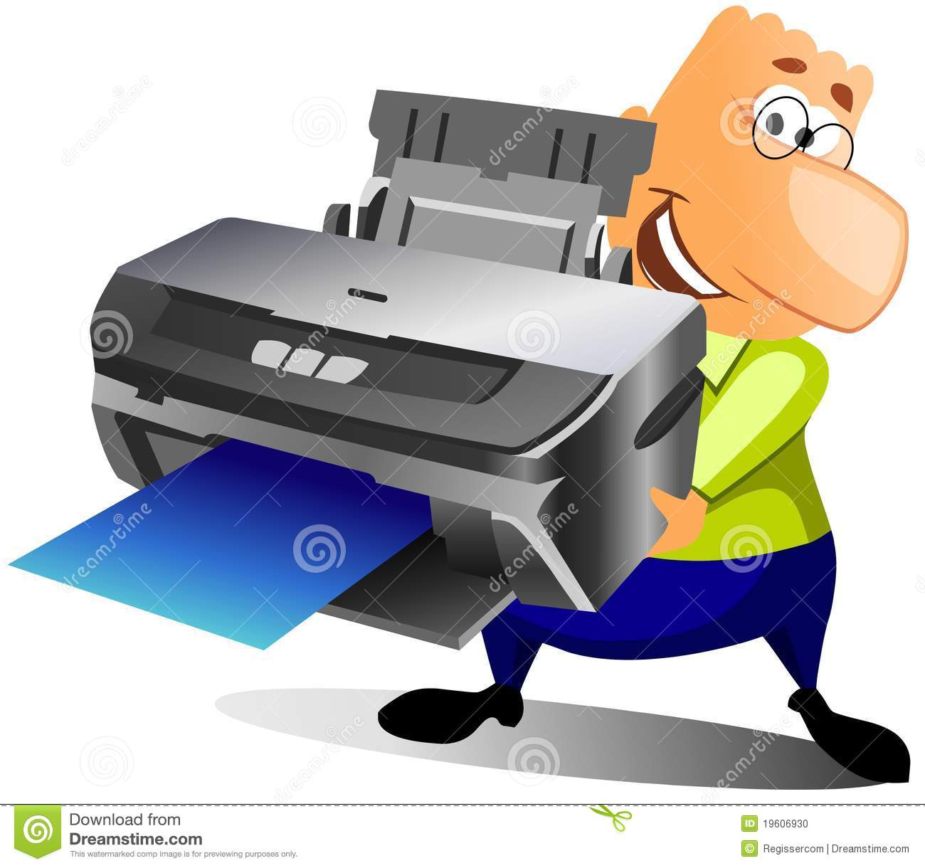 Showing post & media for Happy printer cartoon.