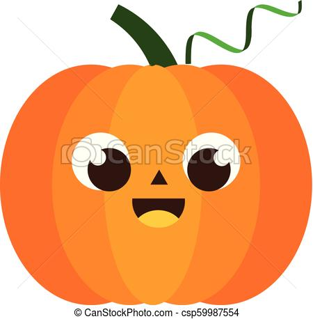 Cartoon pumpkin character. Laughing happy pumpkin for halloween and autumn  design.
