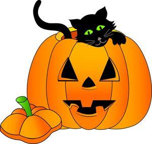 Happy Halloween Pumpkin Clipart.