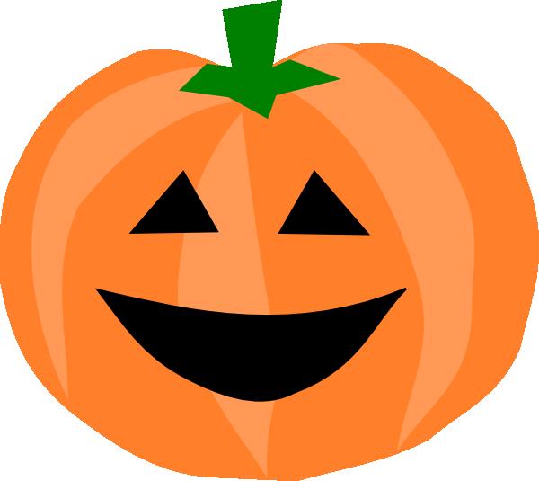 Happy Pumpkin Clip Art.