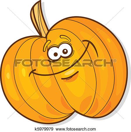 Clip Art of Happy pumpkin k5979979.