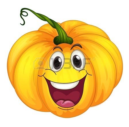 Illustration Of A Happy Pumpkin Royalty Free Cliparts, Vectors.