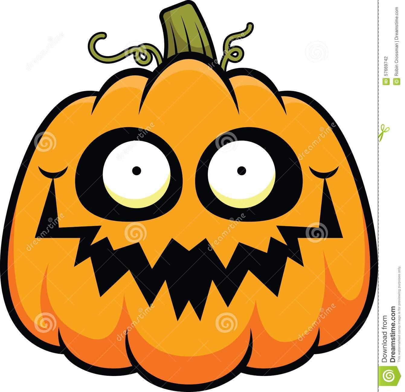 Cartoon Pumpkin Happy Stock Vector.