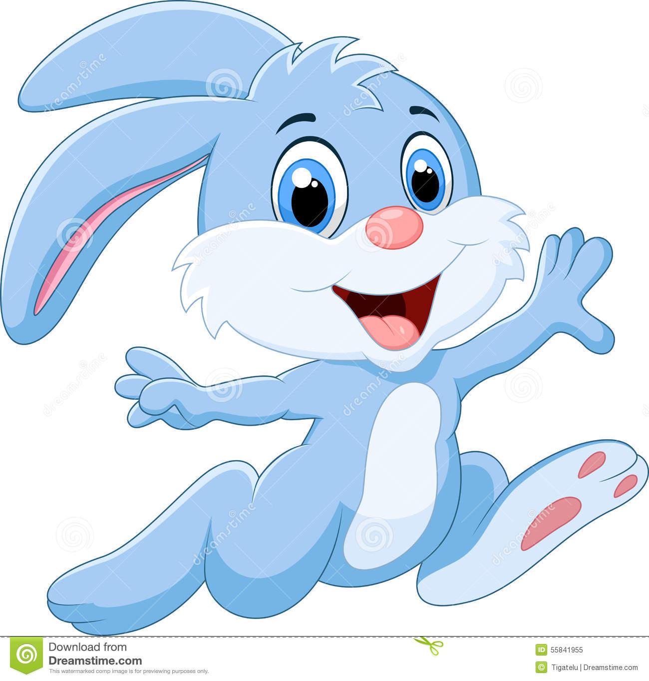 Rabbit Running Clipart.