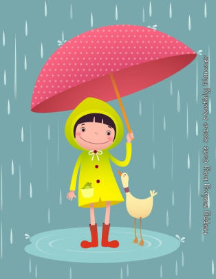 Happy Rainy Day Cute 2016 Monthly Planner.