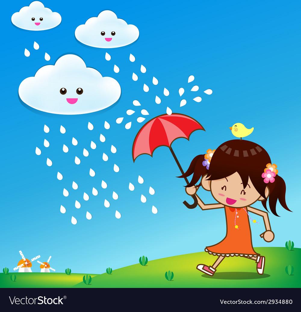 Little girl in rain day 001.