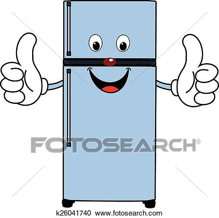 Happy Cartoon Fridge Clipart.