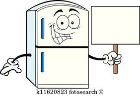 Happy Refrigerator Clip Art.