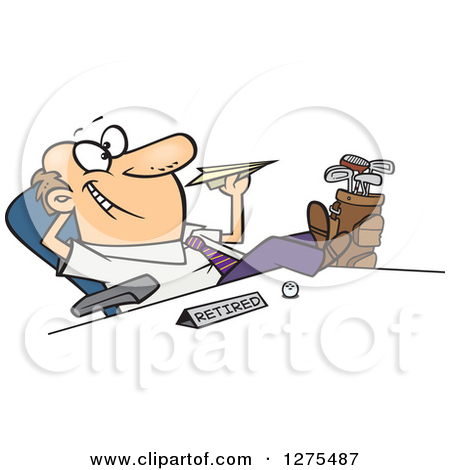 Happy Retired People Clipart.
