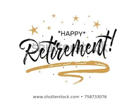 Happy Retirement Card Beautiful Greeting Banner Stock Vector.