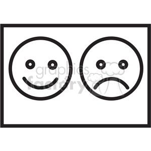 happy sad icon . Royalty.