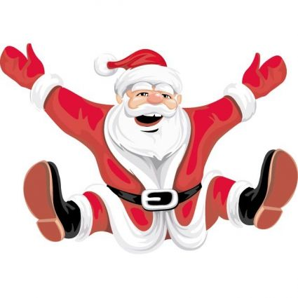 happy santa claus on christmas clip art vector.