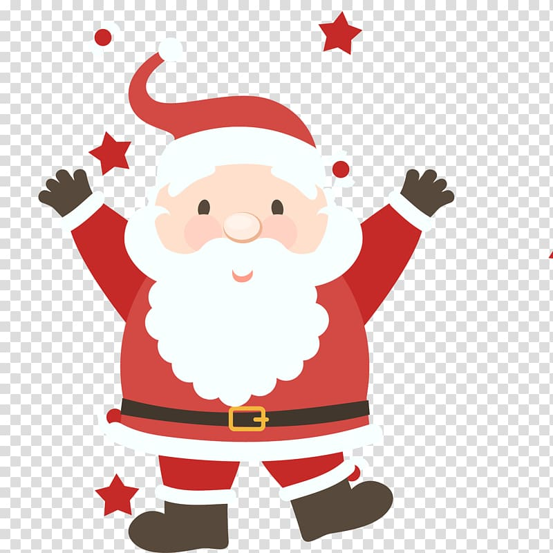 Santa Claus Christmas Illustration, Happy Santa Claus.