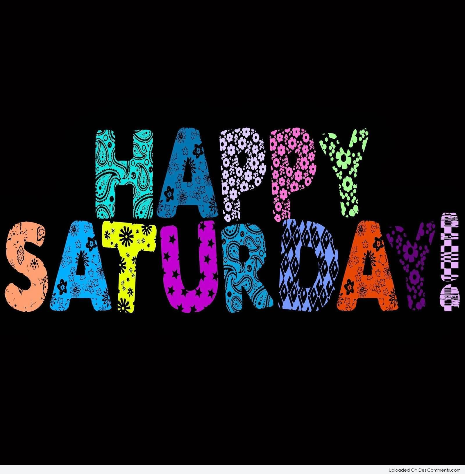 Happy Saturday Colorful Text Clipart Picture.