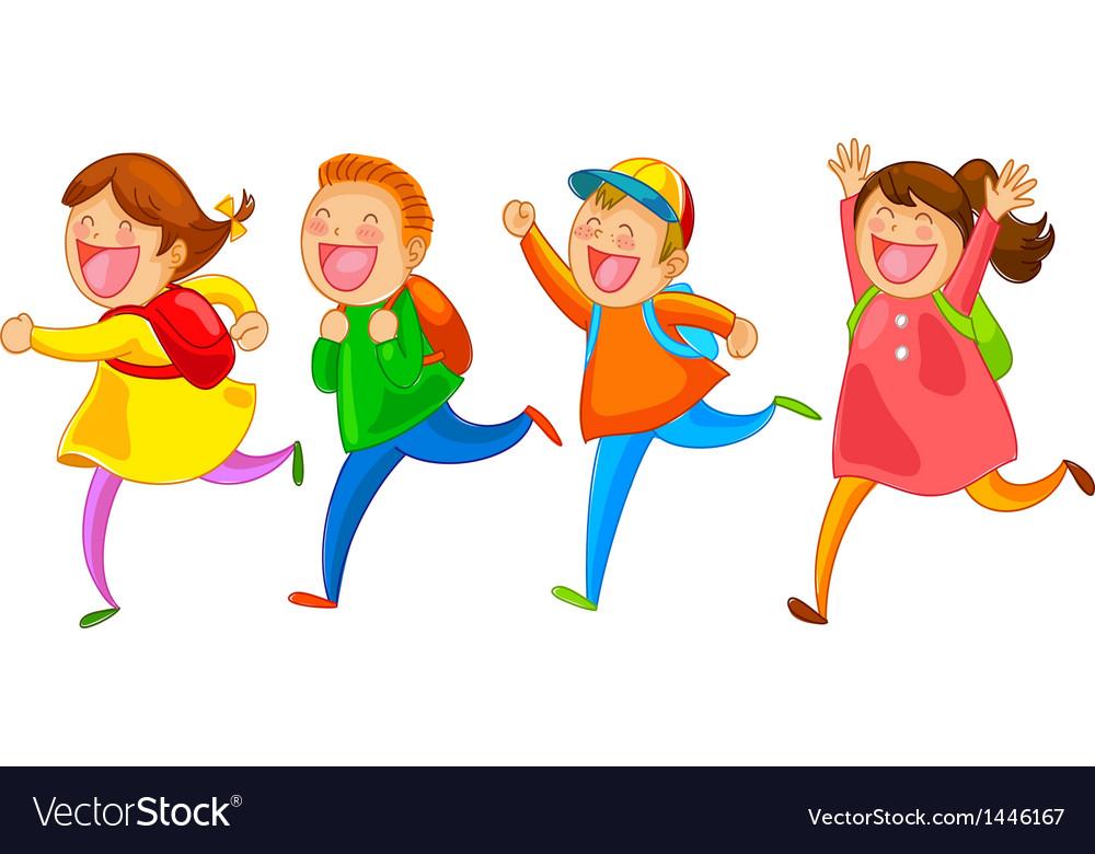 Happy school kids.