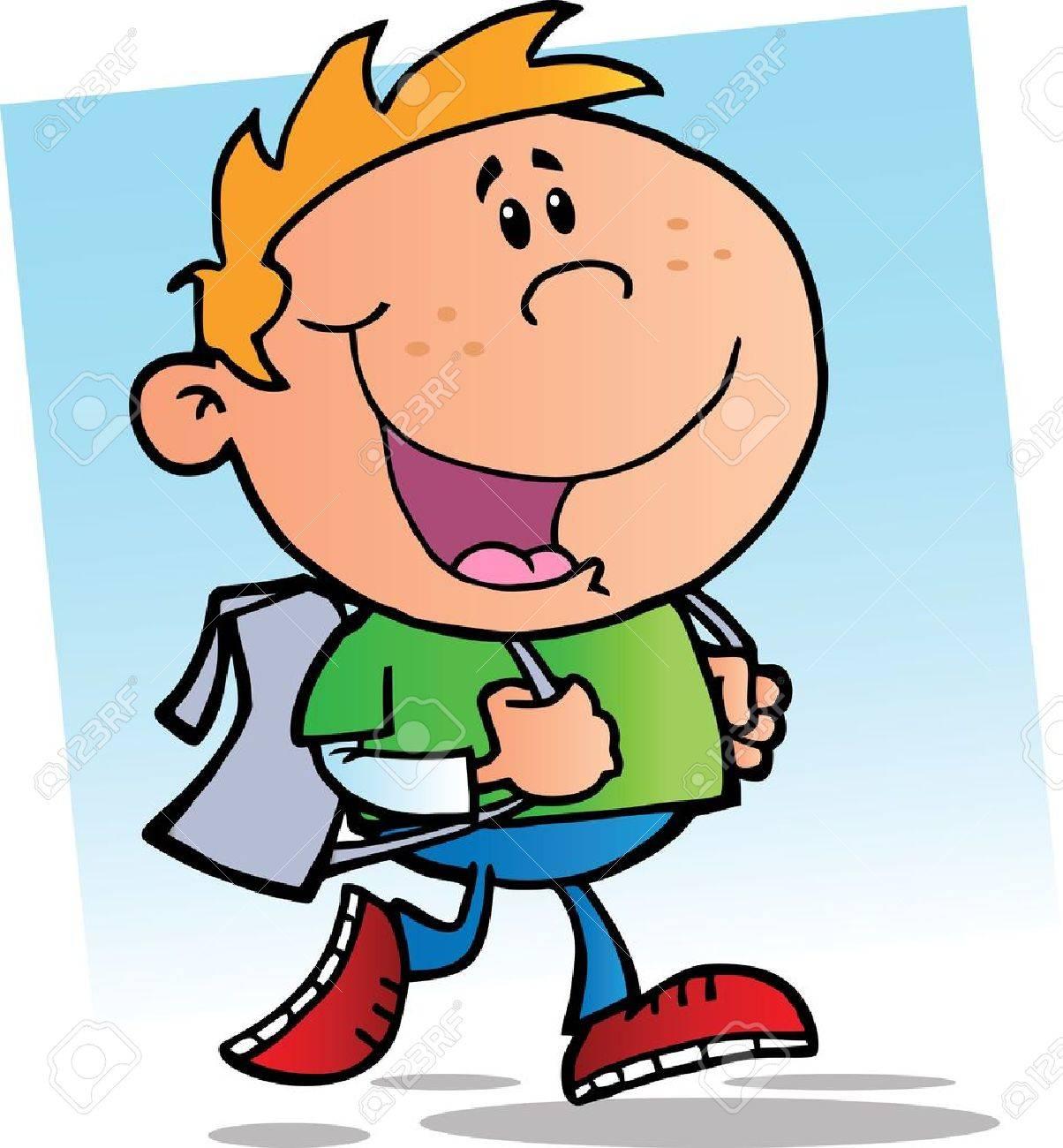 Happy School Boy.