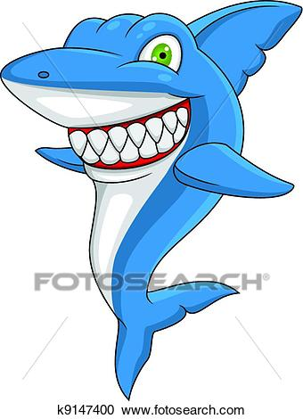Happy shark Clipart.