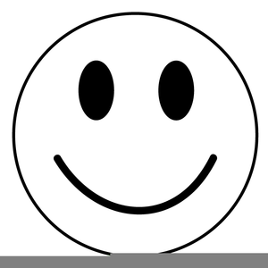 Winking Happy Face Clipart.