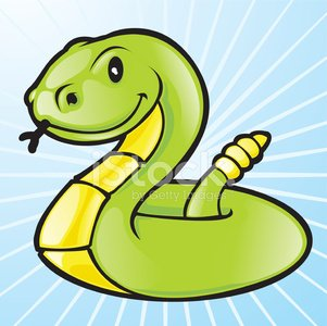 Happy Snake Clipart Image.