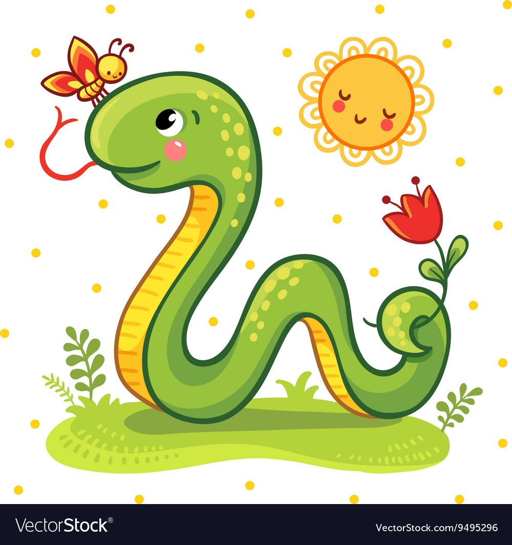 Cute Snake in Royalty Free Vector Image.