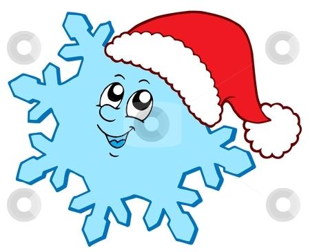 Christmas snowflake stock vector.