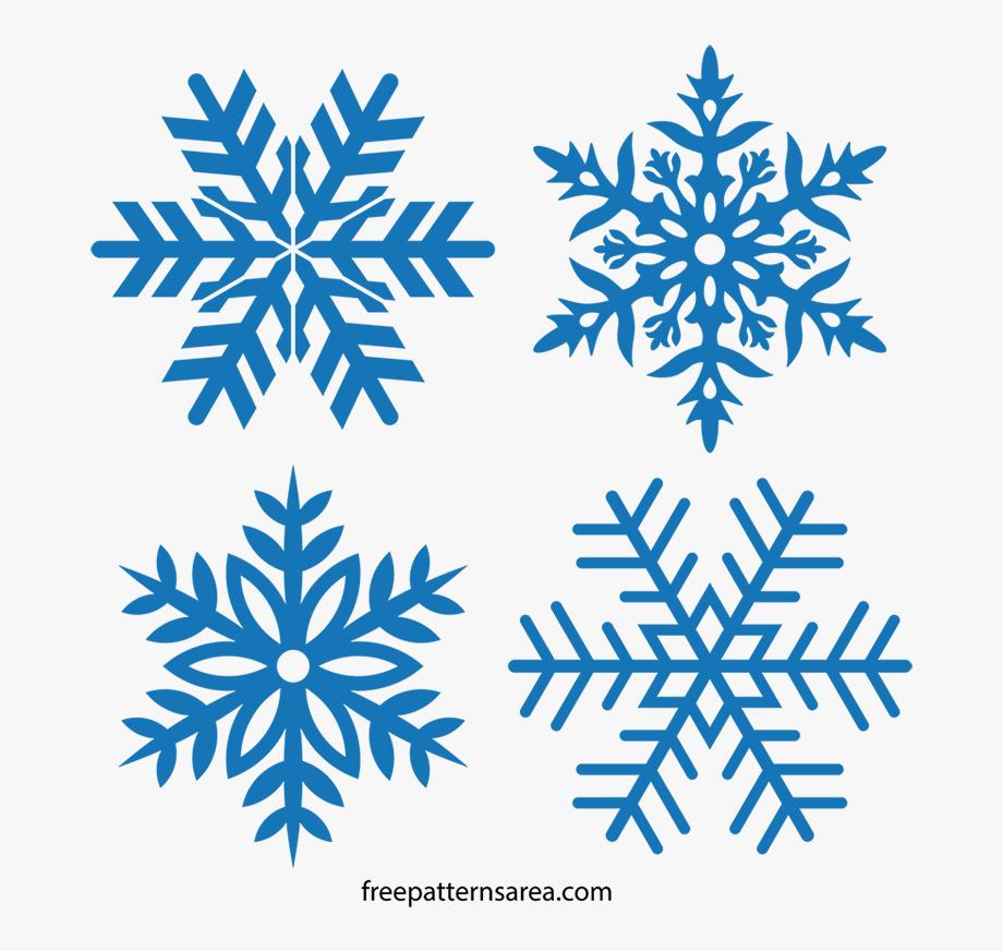 Snowflakes Clipart Stencil.
