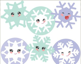 Happy snowflake clipart 1 » Clipart Station.