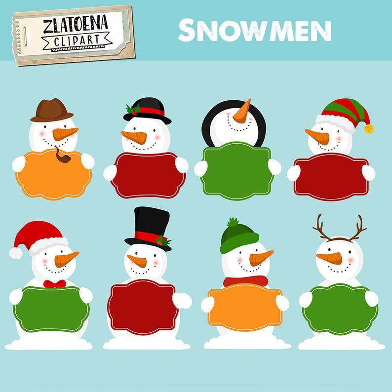 Happy Snowman Clipart Christmas clip art Snow clipart Snowman vector  graphics PNG snowmen clip art Holidays clipart Snowman illustration.