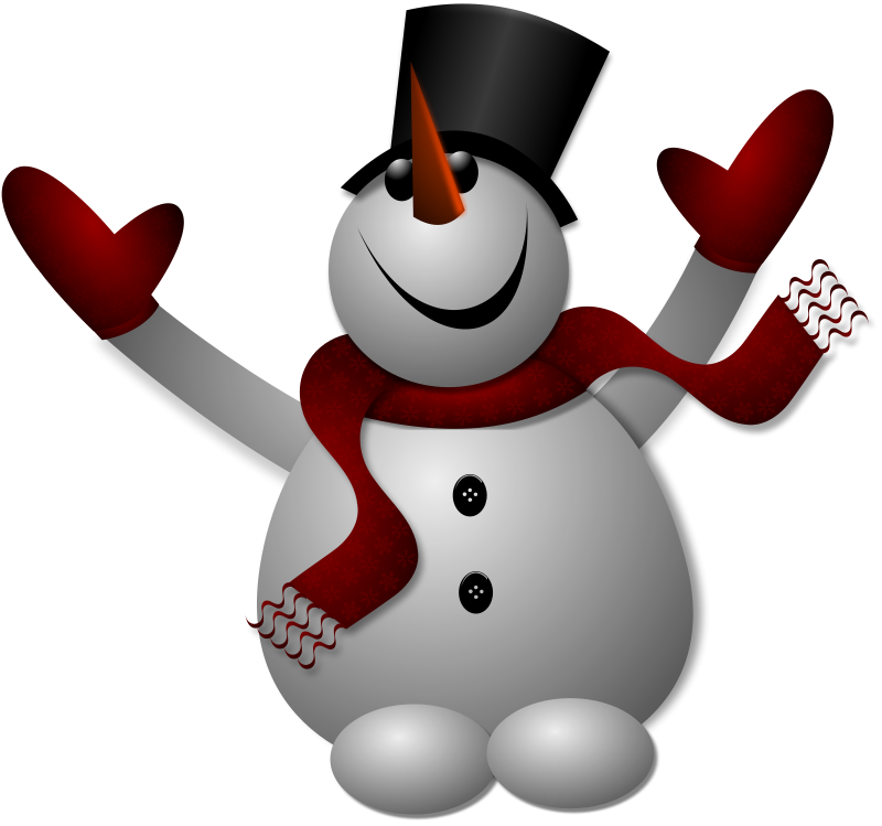 Free Clipart: Happy Snowman 1.