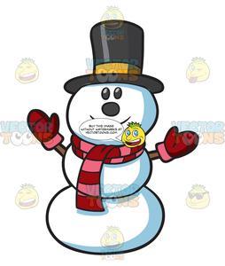 A Happy Snowman.