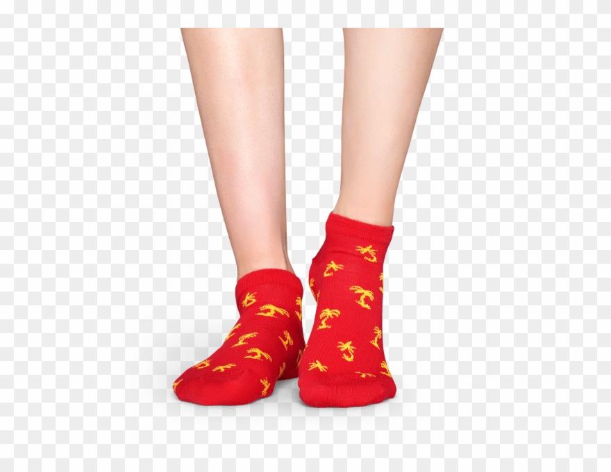 Happy Socks Socks Palm Beach Low (red) Clipart (#2035753.