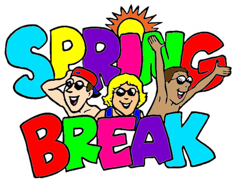 Happy Spring Break Clip Art free image.