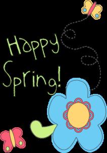 happy spring clip art.