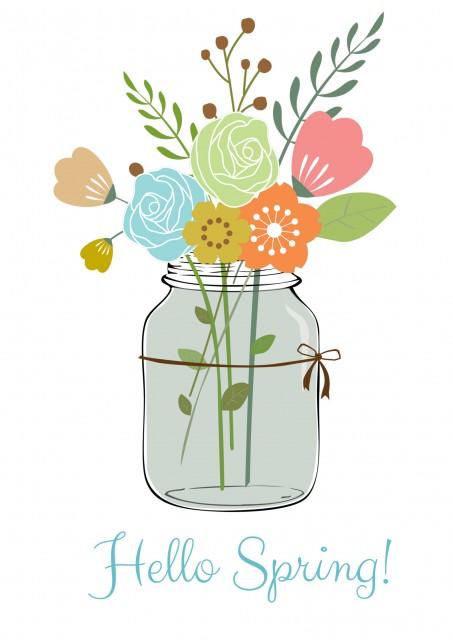 Happy Spring Free Printable.