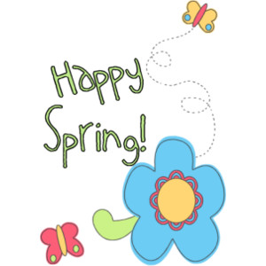 Happy Spring Clip Art Free.