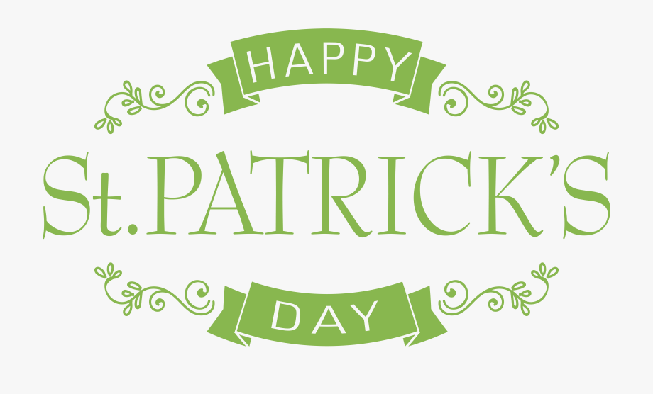 Happy Saint Patrick's Day Png Clip Art Image.