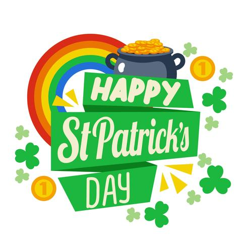 Happy St Patrick Day Background Vector.