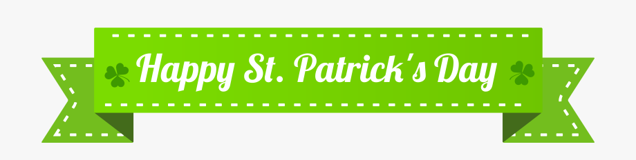 Happy St Patrick's Day Banner Png Clip Art Image.
