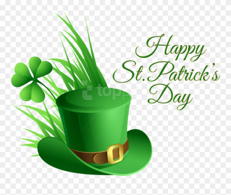 Free Png Download St Patricks Day Hat And Shamrock.