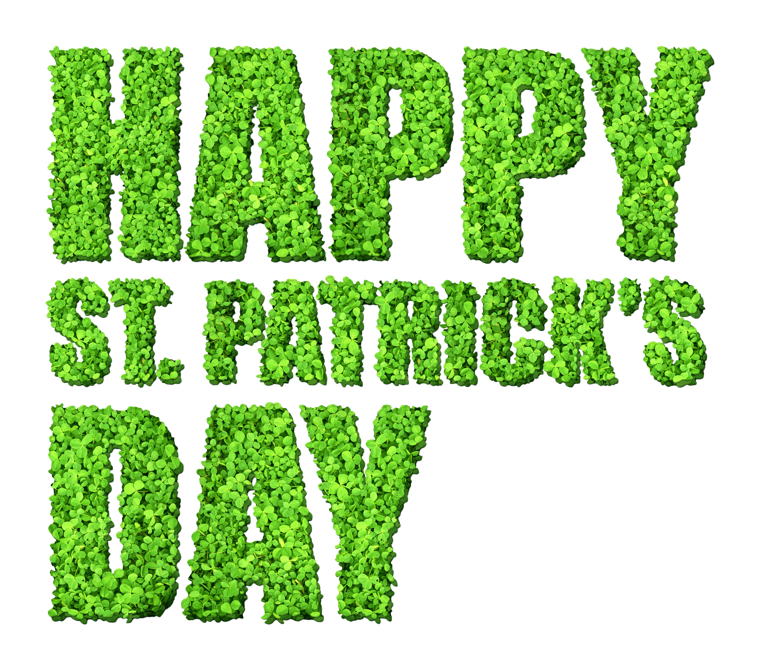 Happy St Patrick's Day Grass Sign transparent PNG.