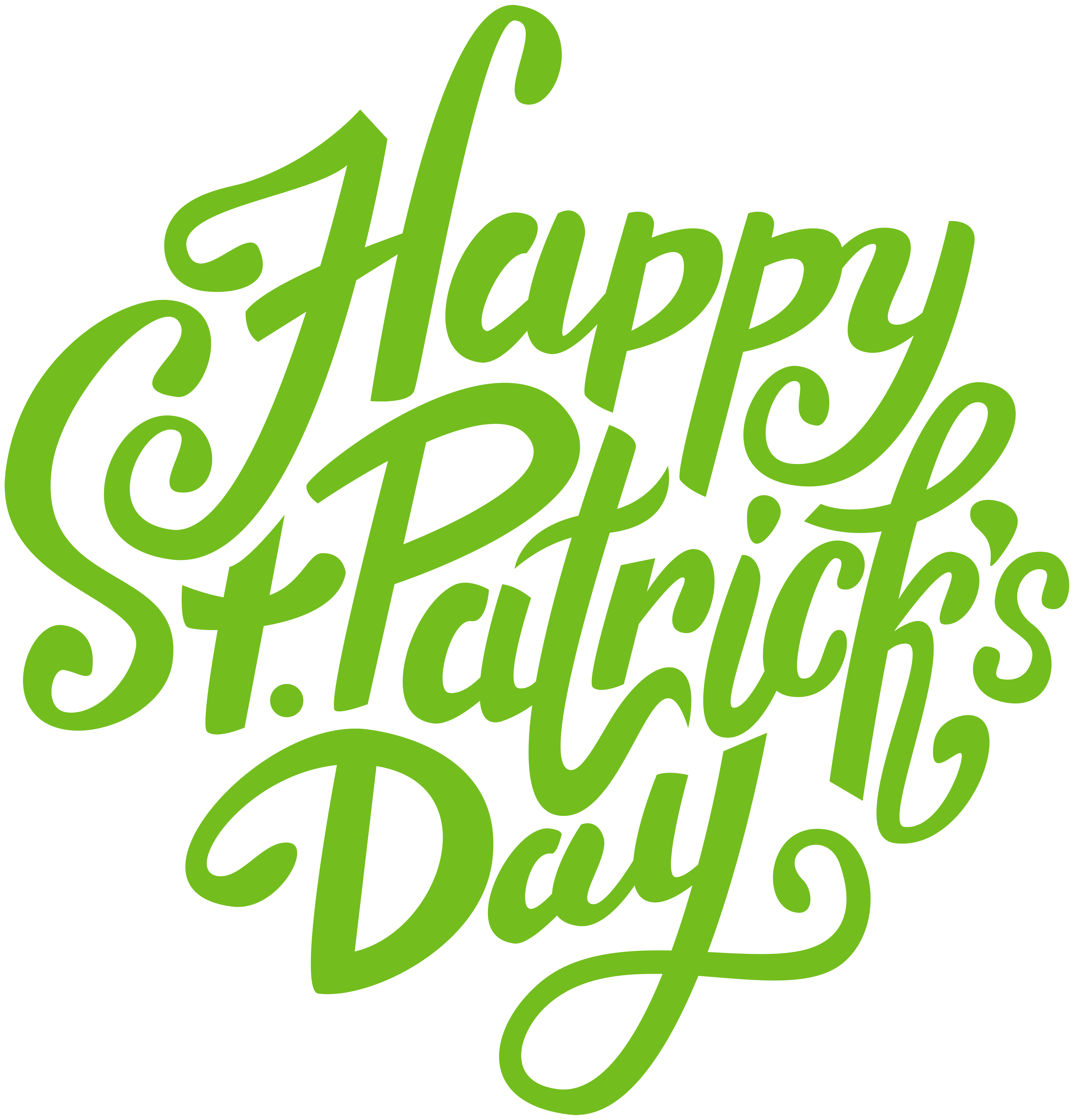 Happy St Patrick's Day PNG Clip Art Image.