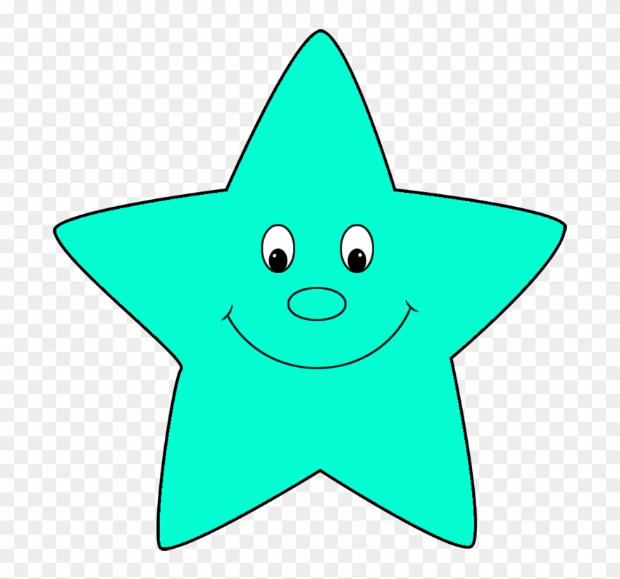 Turquoise Cartoon Star.