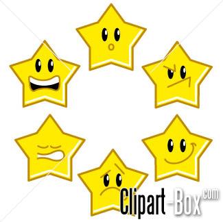 CLIPART HAPPY STARS.