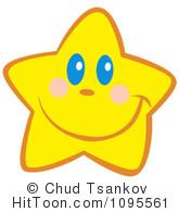 Happy Star Clipart #1.