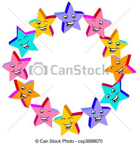 Stock Illustration of little happy stars csp3688670.