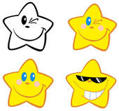 Happy Star Clip Art.