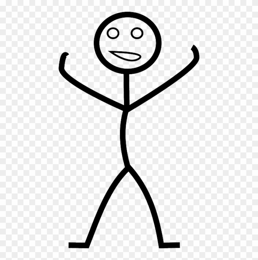 Download Stick Figure Raising Hands Happy Png Images Clipart.