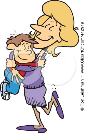 happy student and teacher hugging clipart #18